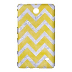 Chevron9 White Marble & Yellow Watercolor Samsung Galaxy Tab 4 (8 ) Hardshell Case  by trendistuff