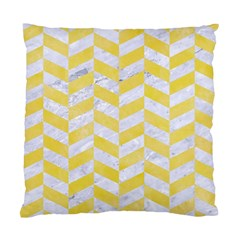 Chevron1 White Marble & Yellow Watercolor Standard Cushion Case (one Side) by trendistuff