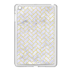 Brick2 White Marble & Yellow Watercolor (r) Apple Ipad Mini Case (white) by trendistuff