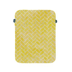 Brick2 White Marble & Yellow Watercolor Apple Ipad 2/3/4 Protective Soft Cases by trendistuff