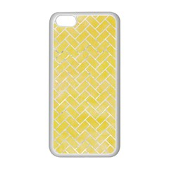 Brick2 White Marble & Yellow Watercolor Apple Iphone 5c Seamless Case (white) by trendistuff