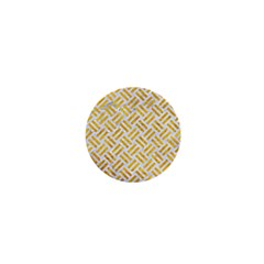 Woven2 White Marble & Yellow Marble (r) 1  Mini Buttons by trendistuff
