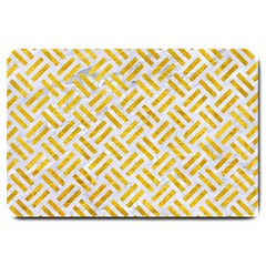 Woven2 White Marble & Yellow Marble (r) Large Doormat