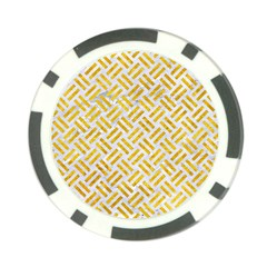 Woven2 White Marble & Yellow Marble (r) Poker Chip Card Guard (10 Pack) by trendistuff