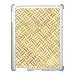 Woven2 White Marble & Yellow Marble (r) Apple Ipad 3/4 Case (white) by trendistuff