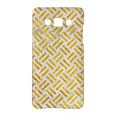 Woven2 White Marble & Yellow Marble (r) Samsung Galaxy A5 Hardshell Case  by trendistuff