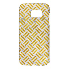Woven2 White Marble & Yellow Marble (r) Samsung Galaxy S7 Edge Hardshell Case