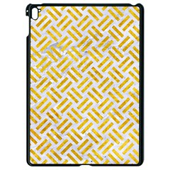 Woven2 White Marble & Yellow Marble (r) Apple Ipad Pro 9 7   Black Seamless Case by trendistuff