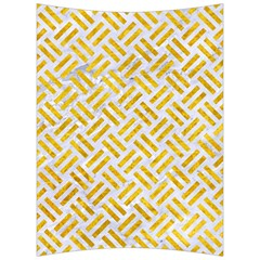 Woven2 White Marble & Yellow Marble (r) Back Support Cushion by trendistuff