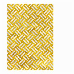 Woven2 White Marble & Yellow Marble Small Garden Flag (two Sides) by trendistuff