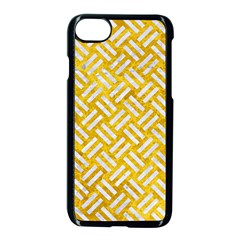 Woven2 White Marble & Yellow Marble Apple Iphone 7 Seamless Case (black) by trendistuff