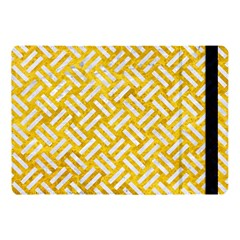 Woven2 White Marble & Yellow Marble Apple Ipad Pro 10 5   Flip Case by trendistuff