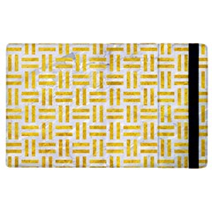Woven1 White Marble & Yellow Marble (r) Apple Ipad 2 Flip Case by trendistuff
