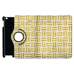 Woven1 White Marble & Yellow Marble (r) Apple Ipad 2 Flip 360 Case by trendistuff