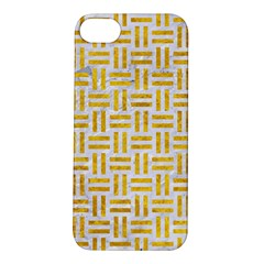 Woven1 White Marble & Yellow Marble (r) Apple Iphone 5s/ Se Hardshell Case by trendistuff