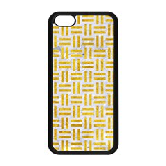 Woven1 White Marble & Yellow Marble (r) Apple Iphone 5c Seamless Case (black) by trendistuff
