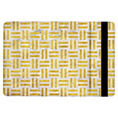 Woven1 White Marble & Yellow Marble (r) Ipad Air Flip by trendistuff