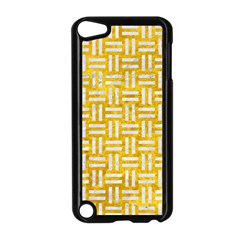 Woven1 White Marble & Yellow Marble Apple Ipod Touch 5 Case (black) by trendistuff