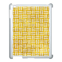 Woven1 White Marble & Yellow Marble Apple Ipad 3/4 Case (white) by trendistuff