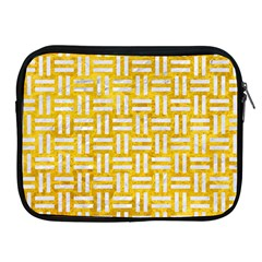 Woven1 White Marble & Yellow Marble Apple Ipad 2/3/4 Zipper Cases by trendistuff