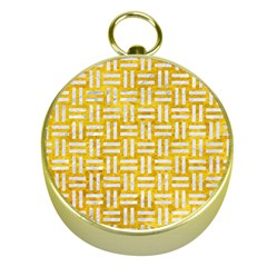 Woven1 White Marble & Yellow Marble Gold Compasses by trendistuff
