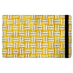 Woven1 White Marble & Yellow Marble Apple Ipad Pro 12 9   Flip Case by trendistuff
