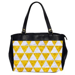 Triangle3 White Marble & Yellow Marble Office Handbags (2 Sides)  by trendistuff