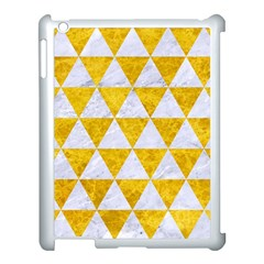 Triangle3 White Marble & Yellow Marble Apple Ipad 3/4 Case (white) by trendistuff