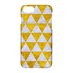 Triangle3 White Marble & Yellow Marble Apple Iphone 7 Hardshell Case by trendistuff