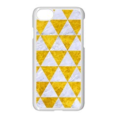Triangle3 White Marble & Yellow Marble Apple Iphone 7 Seamless Case (white) by trendistuff