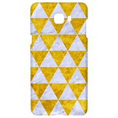 Triangle3 White Marble & Yellow Marble Samsung C9 Pro Hardshell Case