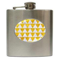 Triangle2 White Marble & Yellow Marble Hip Flask (6 Oz) by trendistuff