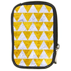 Triangle2 White Marble & Yellow Marble Compact Camera Cases by trendistuff