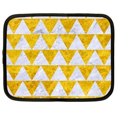 Triangle2 White Marble & Yellow Marble Netbook Case (xxl)  by trendistuff