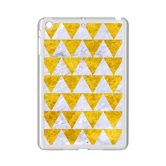Triangle2 White Marble & Yellow Marble Ipad Mini 2 Enamel Coated Cases by trendistuff