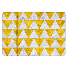 Triangle2 White Marble & Yellow Marble Samsung Galaxy Tab 8 9  P7300 Flip Case by trendistuff