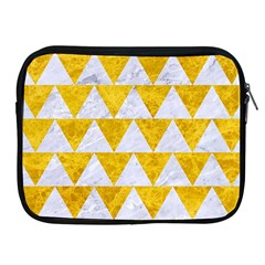 Triangle2 White Marble & Yellow Marble Apple Ipad 2/3/4 Zipper Cases by trendistuff