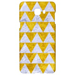 Triangle2 White Marble & Yellow Marble Samsung C9 Pro Hardshell Case  by trendistuff