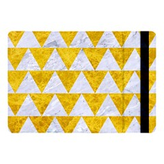 Triangle2 White Marble & Yellow Marble Apple Ipad Pro 10 5   Flip Case by trendistuff
