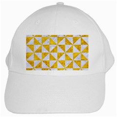 Triangle1 White Marble & Yellow Marble White Cap by trendistuff