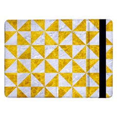 Triangle1 White Marble & Yellow Marble Samsung Galaxy Tab Pro 12 2  Flip Case by trendistuff