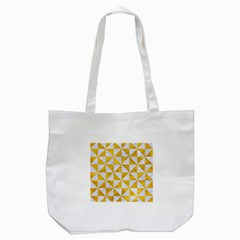 Triangle1 White Marble & Yellow Marble Tote Bag (white) by trendistuff