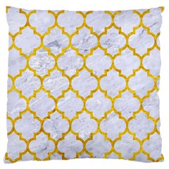 Tile1 White Marble & Yellow Marble (r) Large Cushion Case (two Sides) by trendistuff