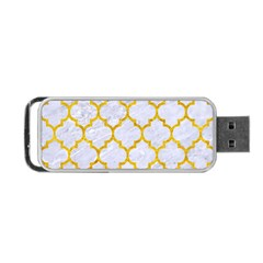 Tile1 White Marble & Yellow Marble (r) Portable Usb Flash (two Sides)