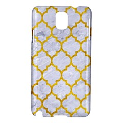 Tile1 White Marble & Yellow Marble (r) Samsung Galaxy Note 3 N9005 Hardshell Case by trendistuff
