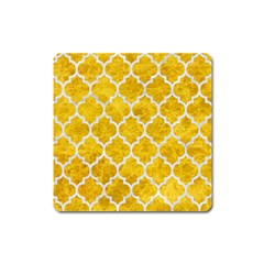 Tile1 White Marble & Yellow Marble Square Magnet by trendistuff