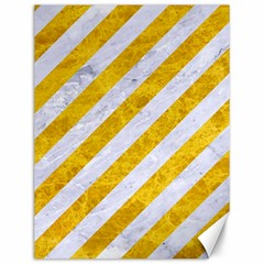 Stripes3 White Marble & Yellow Marble (r) Canvas 12  X 16   by trendistuff
