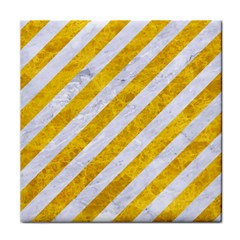 Stripes3 White Marble & Yellow Marble (r) Face Towel by trendistuff