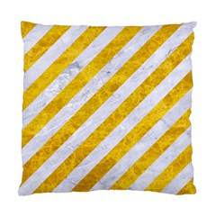 Stripes3 White Marble & Yellow Marble (r) Standard Cushion Case (two Sides) by trendistuff