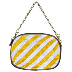 Stripes3 White Marble & Yellow Marble (r) Chain Purses (two Sides)  by trendistuff